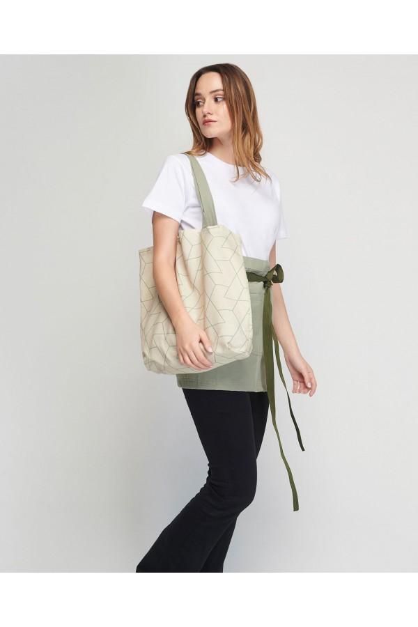 Shopping Bag Geometric Με εσωτερική τσέπη